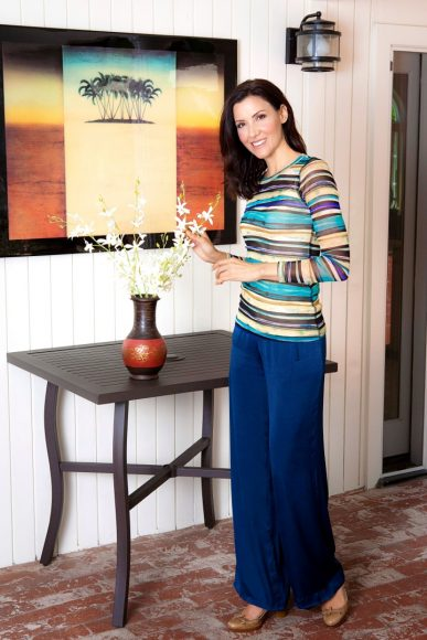 """Blue Pants"" model Jacqueline Depaul"