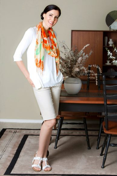 """Orange Scarf"" - model Jacqueline Depaul"