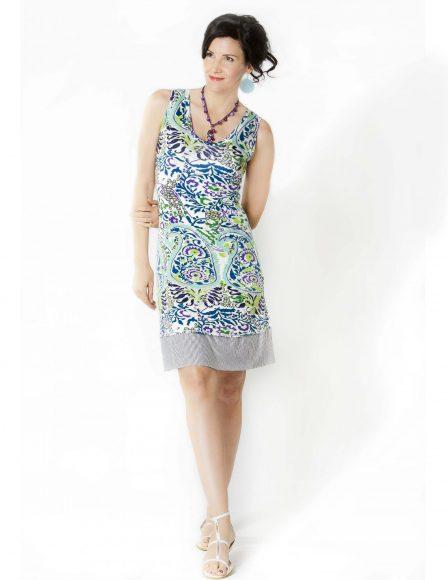 Stiletto Spring dress- model Jacqueline Depaul