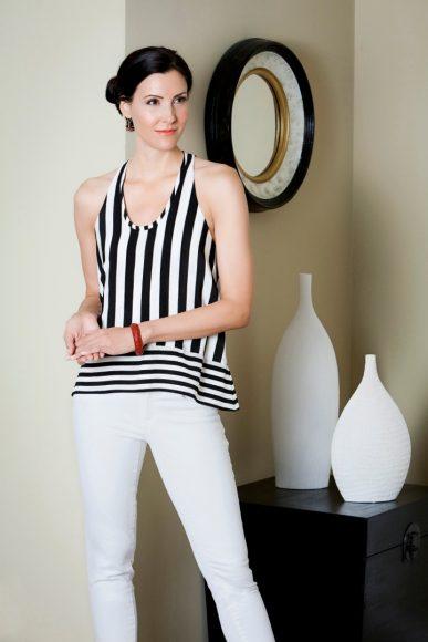 """Stripes"" - model Jacqueline Depaul"