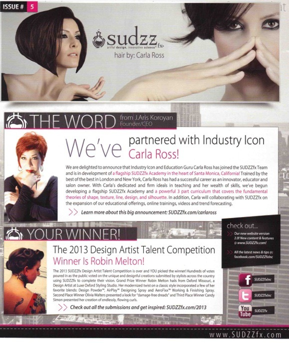 SUDZZfx announcement of partnership with Carla Ross