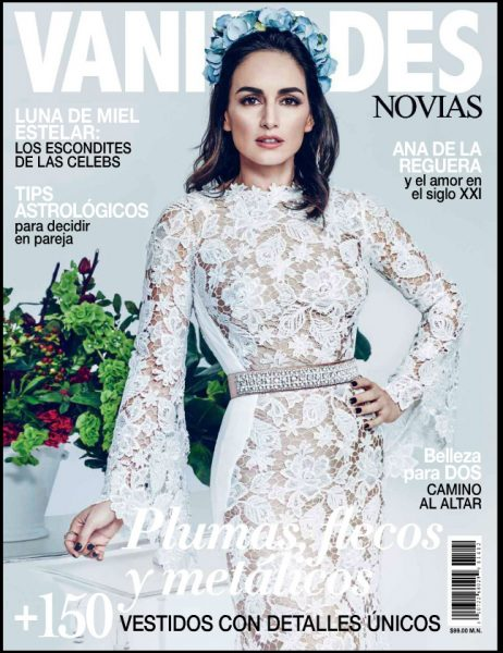 Cover-December 2014 Vanidades Novias Brides, Nostalgico Romance editorial featuring model Jacqueline Depaul